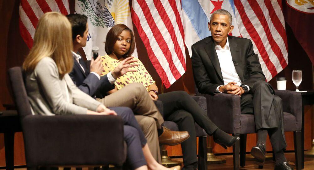 Były prezydent USA Barack Obama na Uniwersytecie Chicagowskim