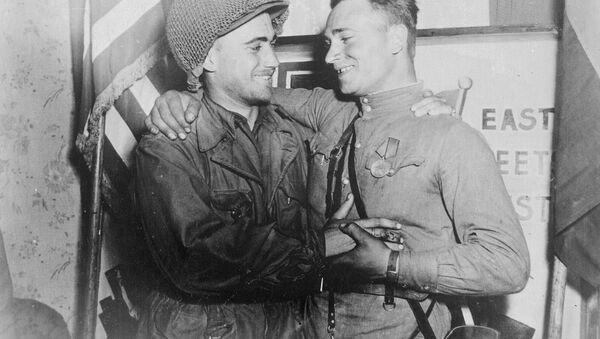 Spotkanie nad Łabą, 1945 - Sputnik Polska