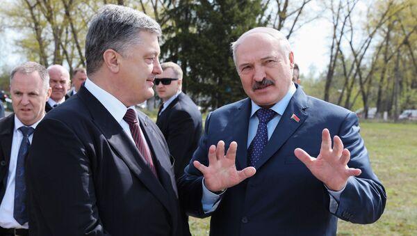 Prezydenci Ukrainy i Białorusi w Czarnobylu - Sputnik Polska