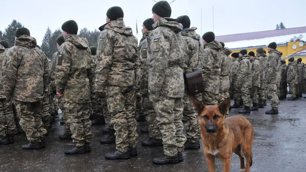 Początek kolejnego etapu przygotować pododdziałów Sił Zbrojnych Ukrainy w obwodzie lwowskim - Sputnik Polska