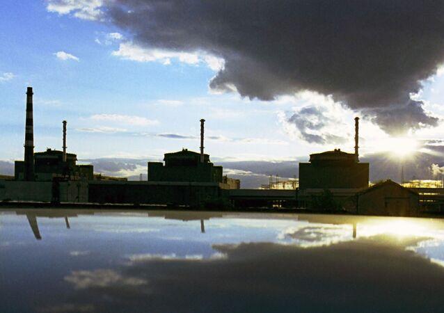Widok na Zaporoską Elektrownię Jądrową