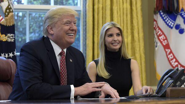 Donald i Ivanka Trump - Sputnik Polska