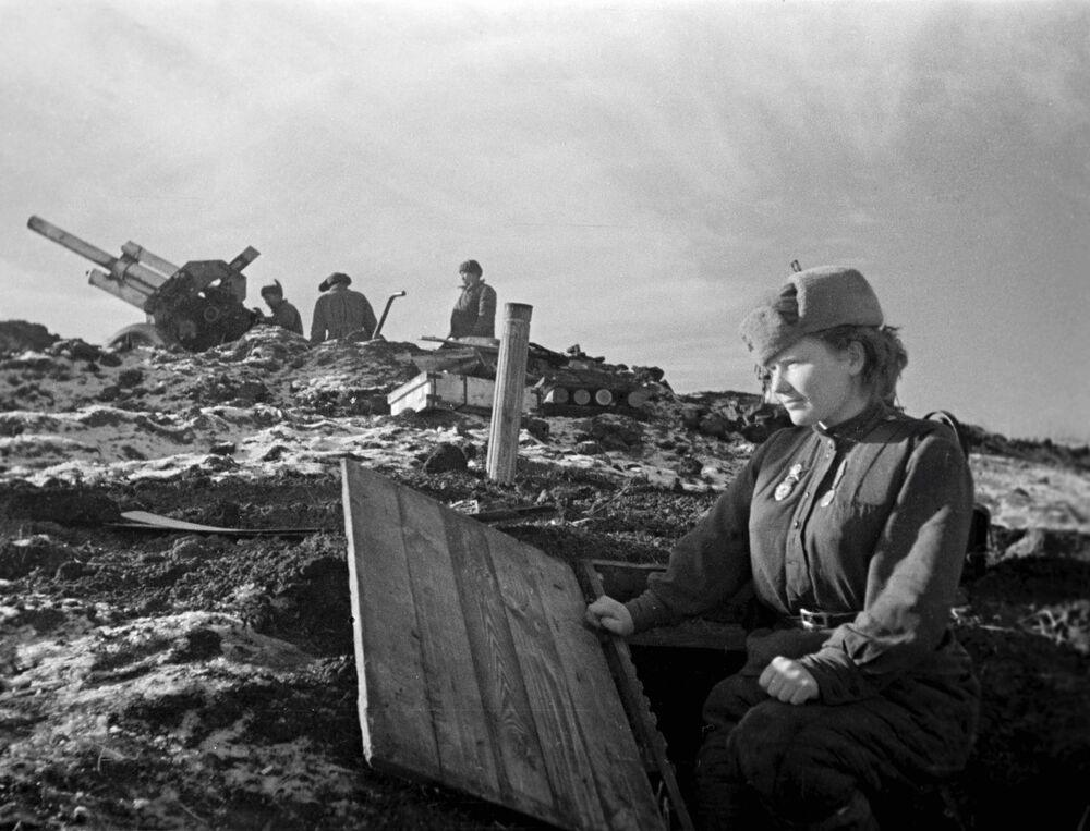 Uczestniczka operacji wyzwolenia Odessy w 1944 roku.