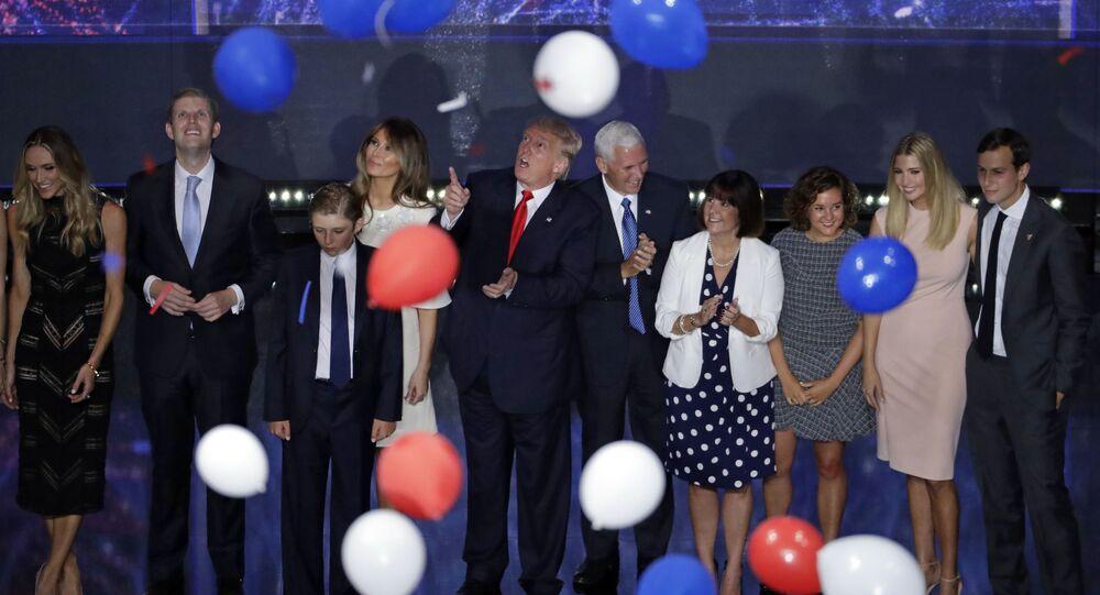 Donald Trump podczas kampanii wyborczej