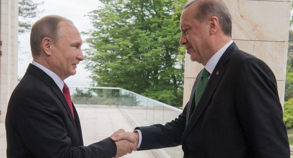 Spotkanie Władimira Putina i Recepa Tayyipa Erdogana