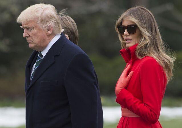 Prezydent USA Donald Trump i jego małżonka Melania Trump