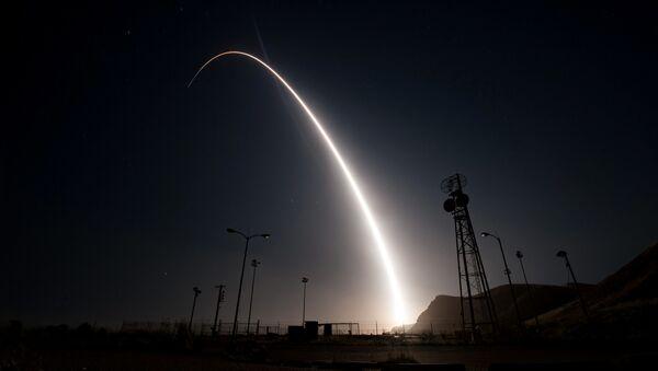Test amerykańskiej międzykontynentalnej rakiety balistycznej Minuteman III - Sputnik Polska