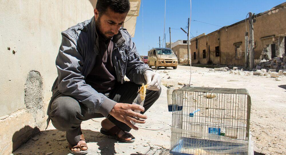 Zbieranie dowodów na miejscu domniemanego ataku chemicznego w mieście Chan Szejchun w Syrii