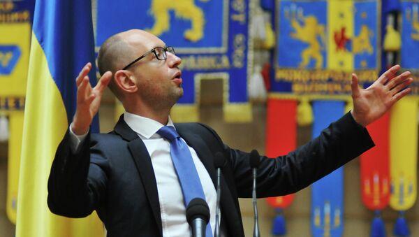Ukraiński premier Arsenij Jaceniuk - Sputnik Polska