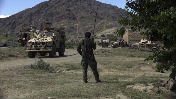 Amerykańscy i afgańscy wojskowi w rejonie Dżałałabada. Zdjęcie archiwalne - Sputnik Polska