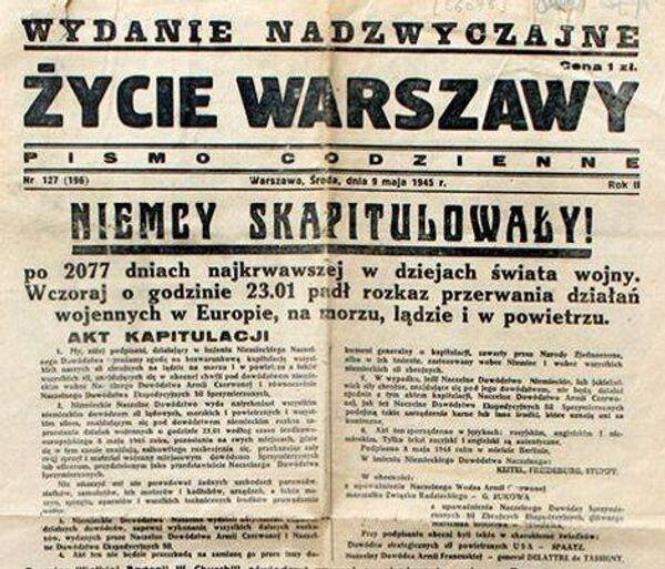 Życie Warszawy 9 maja 1945: Niemcy skapitulowały! - Sputnik Polska