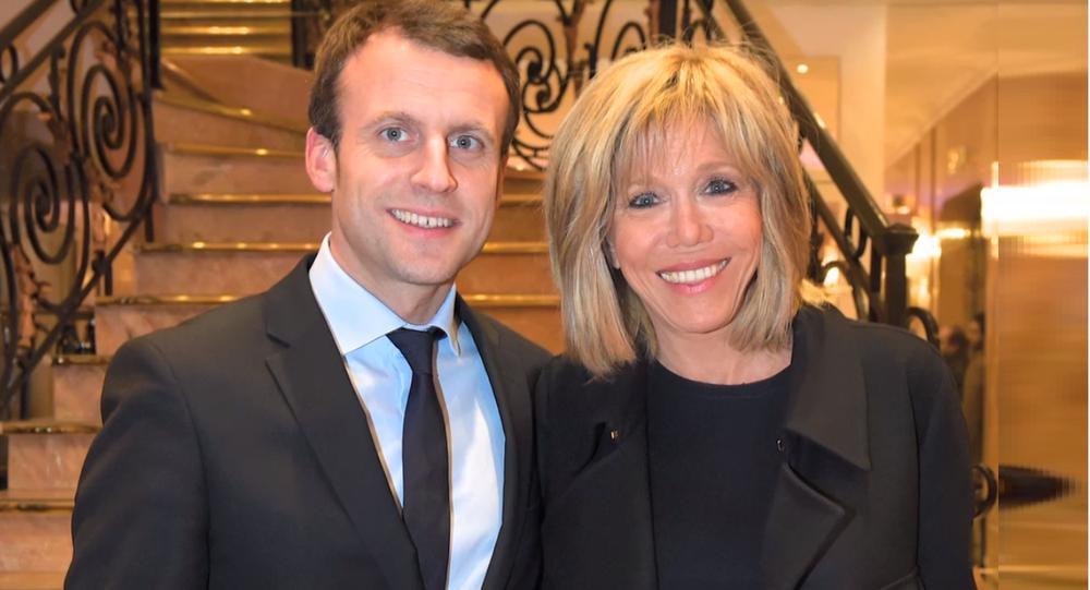Emmanuel Macron z żoną Brigitte