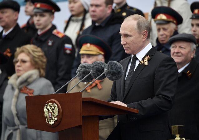 Przemówienie prezydenta Rosji Władimira Putina podczas Defilady Zwycięstwa, 9 maja 2017