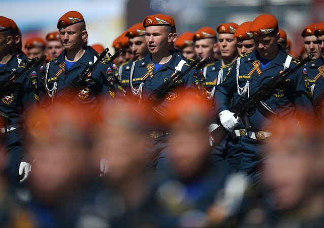 Siły Ministerstwa Sytuacji Nadzwyczajnych na Placu Czerwonym