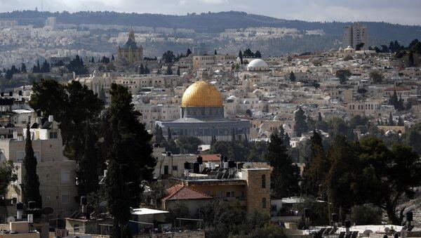 Jerozolima, widok na stare miasto i meczet Al-Aqsa - Sputnik Polska