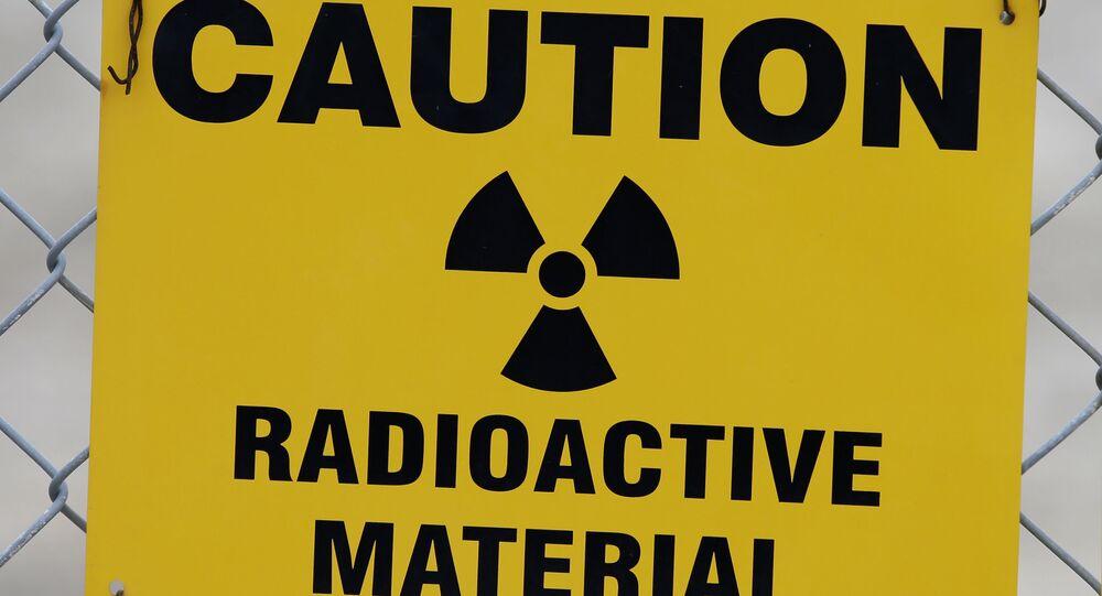 Znak ostrzegający przed materiałami promieniotwórczymi