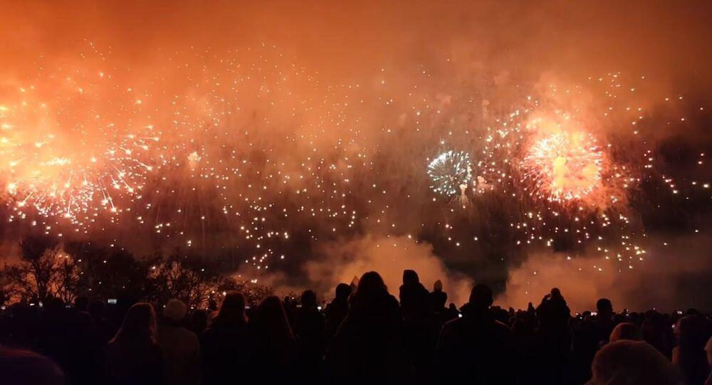 Dziesięć tysięcy fajerwerków nad Moskwą