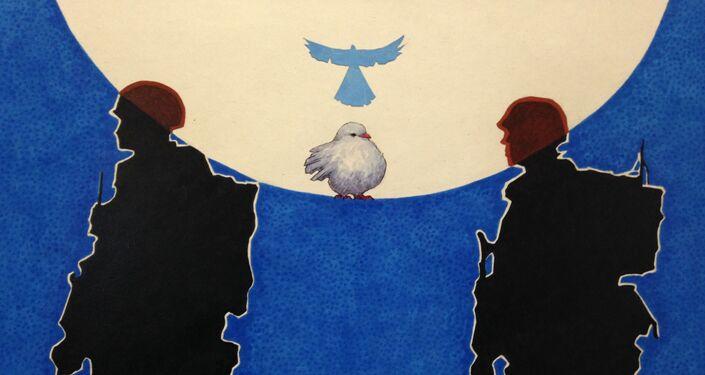 Praca północnokoreańskiego artysty Song Byeoka