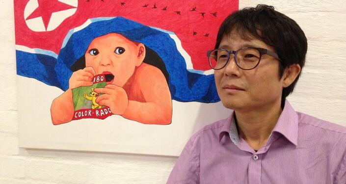 Północnokoreański artysta Song Byeok