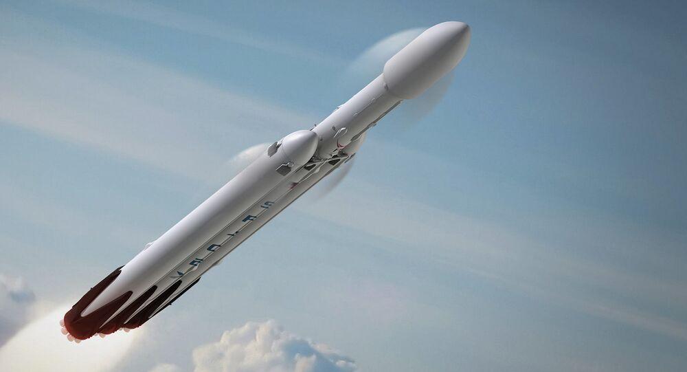 Wizualizacja rakiety Falcon Heavy