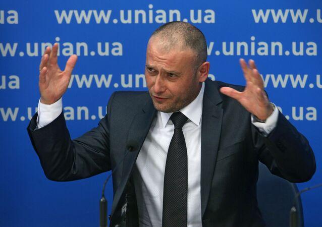 Lider Prawego Sektora Dmytro Jarosz. Zdjęcie archiwalne