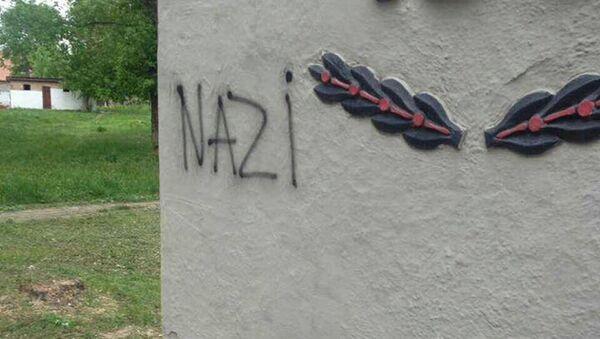Pod Charkowem wandale zbezcześcili pomnik poległych w II wojnie światowej - Sputnik Polska