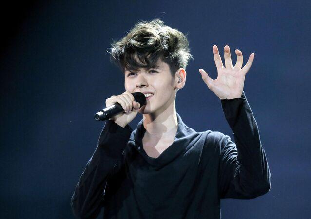 Bułgarski piosenkarz Kristian Kostow na konkursie Eurowizji w Kijowie