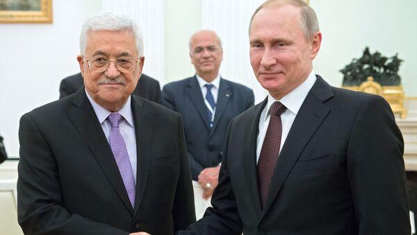 Władimir Putin i Mahmud Abbas - Sputnik Polska