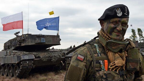 Dowódca polskiego czołgu na ćwiczeniach wojskowych NATO - Sputnik Polska