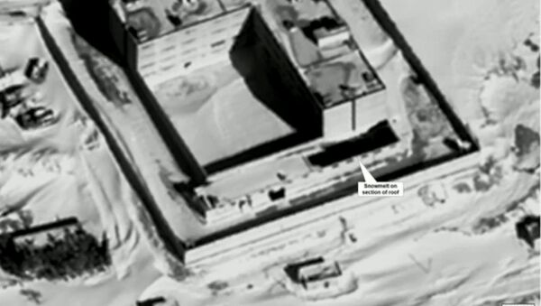 Zdjęcie satelitarne więzienia Sednaya w Syrii - Sputnik Polska