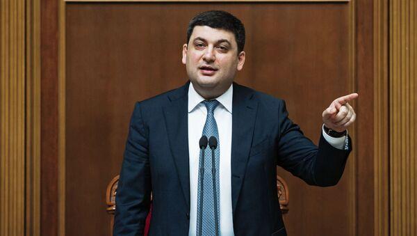 Premier Ukrainy Wołodymyr Hrojsman na posiedzeniu Rady Najwyższej Ukrainy w Kijowie - Sputnik Polska