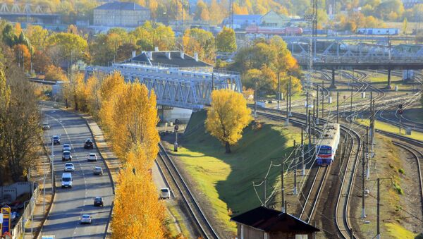 Węzeł kolejowy w pobliżu dworca południowego w Kaliningradzie - Sputnik Polska