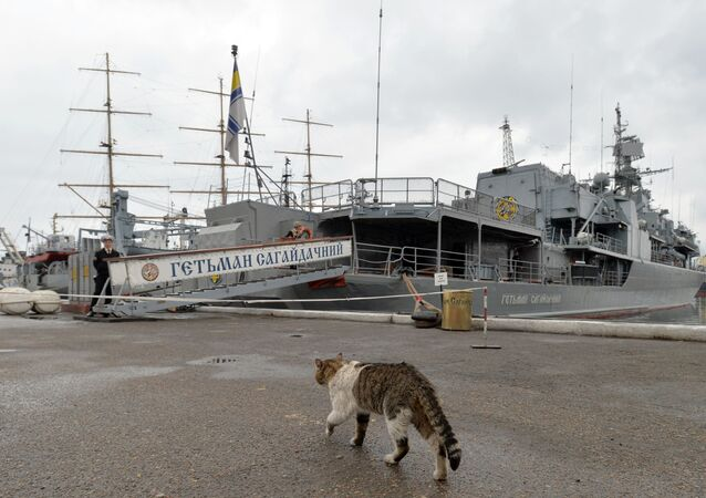"""Flagowy okręt ukraińskiej floty """"Hetman Sahajdaczny"""""""