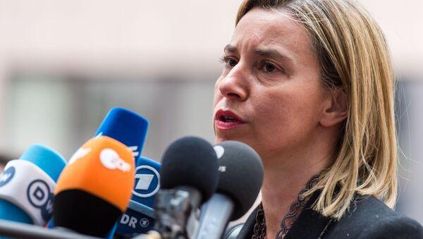 Szefowa dyplomacji UE Federica Mogherini - Sputnik Polska