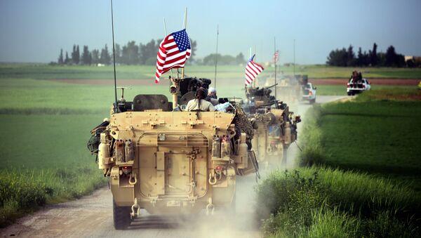 Amerykańskie wojska na granicy Turcji i Syrii - Sputnik Polska