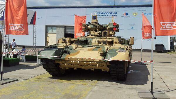 """Obiekt 199 """"Ramka"""" na bazie czołgu T-90 na wystawie """"Technologii w budowie maszyn"""" - Sputnik Polska"""