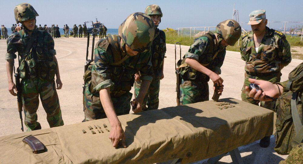 Wspólne ćwiczenia rosyjskiej i syryjskiej piechoty morskiej w Tartusie