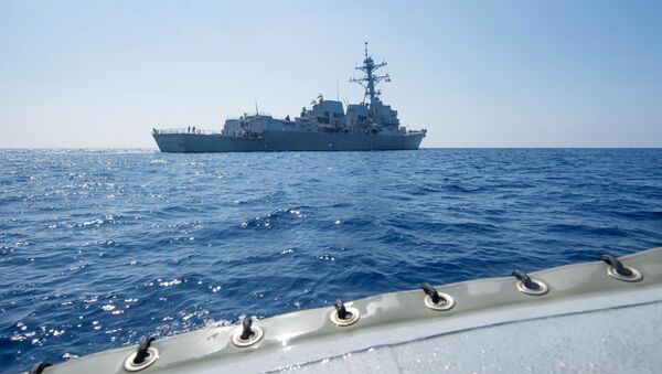 Amerykański niszczyciel rakietowy USS Dewey. Zdjęcie archiwalne - Sputnik Polska