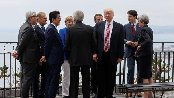 Przywódcy G7 przyjęli 39 punktów deklaracji, którą zamknęli spotkanie w Taorminie na Sycylii - Sputnik Polska