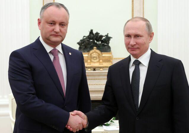 Igor Dodon i Władimir Putin
