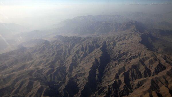 Zdjęcie z lotu ptaka gór w afgańskiej prowincji Helmand - Sputnik Polska