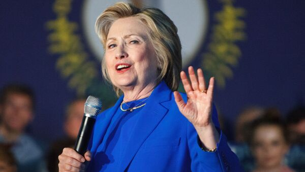 Kandydatka na prezydenta USA Hillary Clinton podczas kampanii wyborczej w stanie Kentucky. Zdjęcie archiwalne - Sputnik Polska