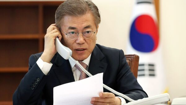 Prezydent Korei Południowej Moon Jae-in - Sputnik Polska