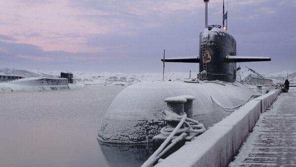 Okręt podwodny o napędzie atomowym Kursk Floty Północnej Marynarki Wojennej Rosji - Sputnik Polska
