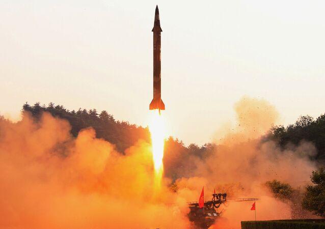 Test rakiety balistycznej w Korei Północnej