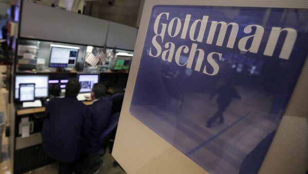 Praca traderów firmy Goldman Sachs - Sputnik Polska