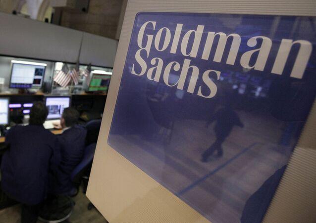 Praca traderów firmy Goldman Sachs