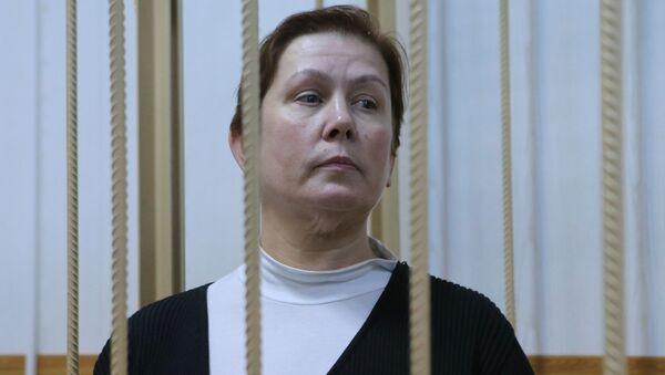 Była dyrektor Biblioteki Ukraińskiej Literatury Natalia Szarina w moskiewskim sądzie - Sputnik Polska