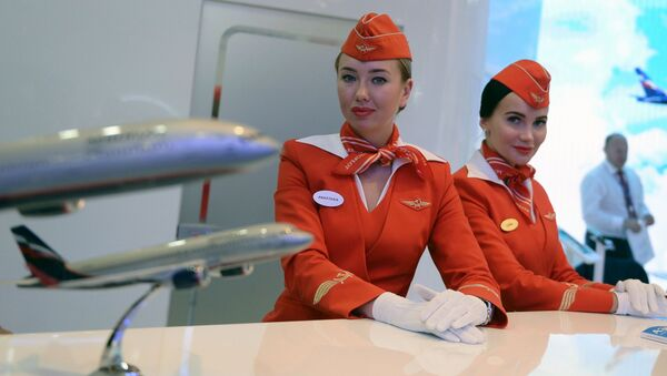 Stoisko Aeroflotu na Forum Ekonomicznym w Petersburgu - Sputnik Polska
