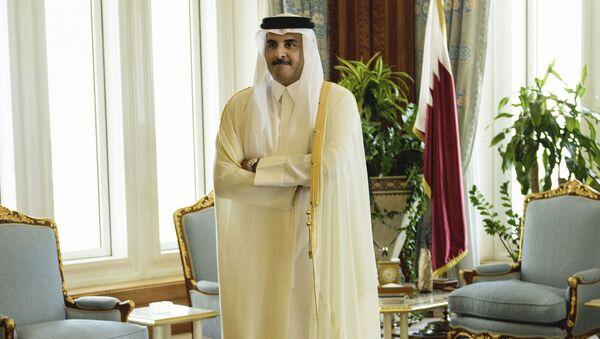 Emir Kataru szejk Tamim ibn Hamad Al Sani - Sputnik Polska